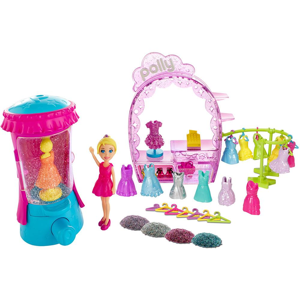 Boneca Polly Pocket Estúdio do Glitter - Mattel