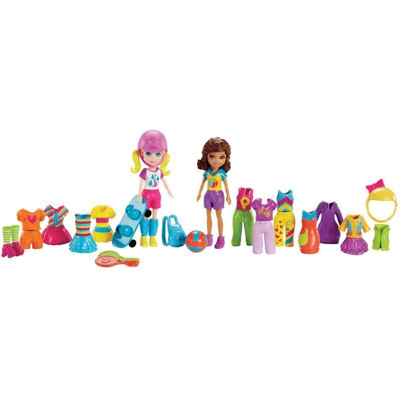 Boneca Polly Pocket - Férias Tropicais/ Festa Brilhante/ Roupas de Esportes - Mattel