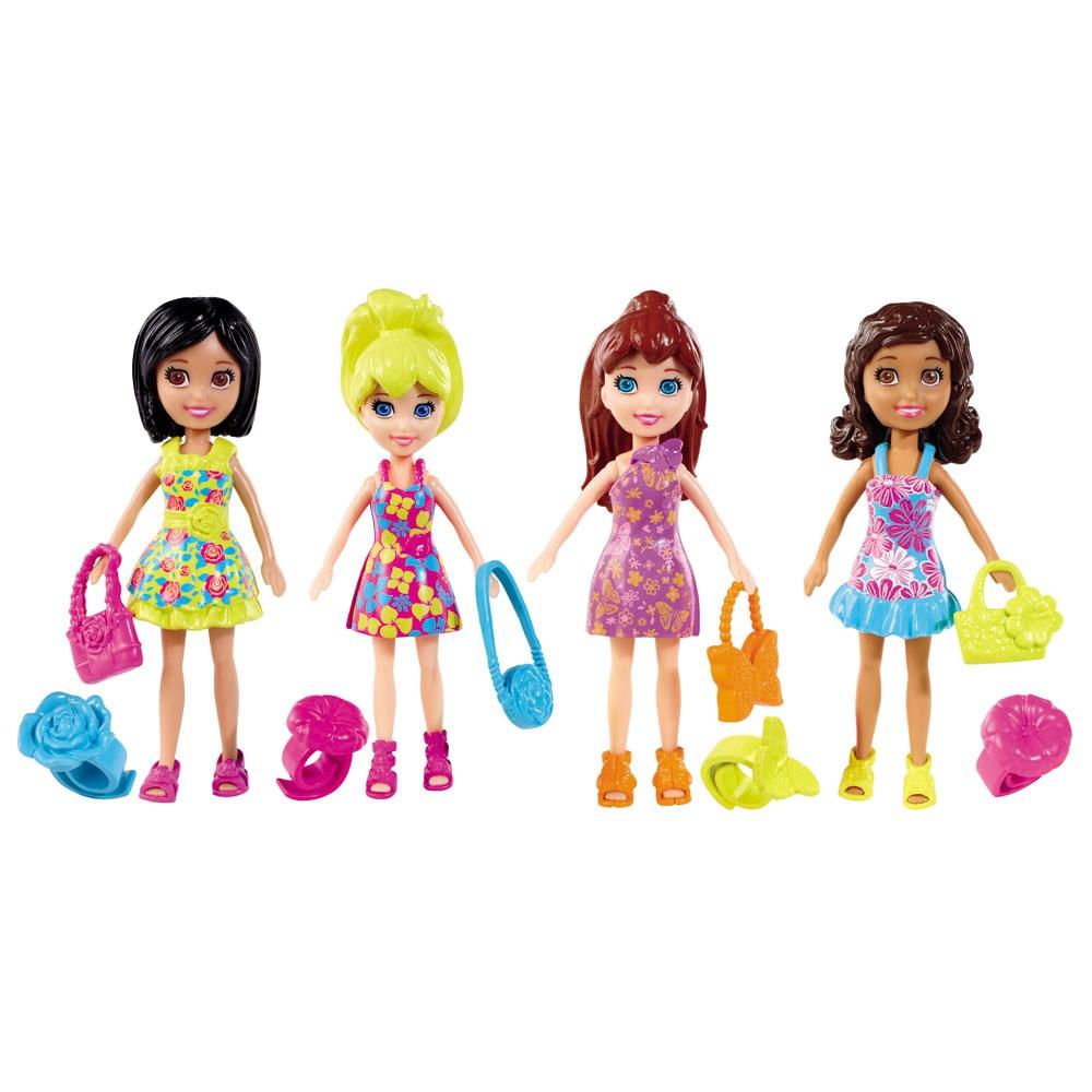 Boneca Polly Pocket Kit 4 Amigas Passeio Divertido