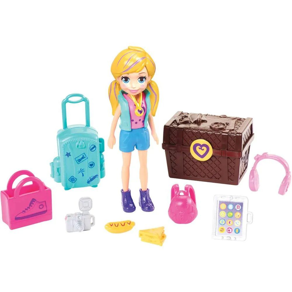 Boneca Polly Pocket Kit Turista Estiloso - Mattel