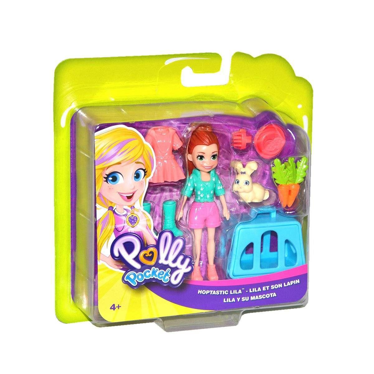 Boneca Polly Pocket Lila e Coelhinha - Mattel
