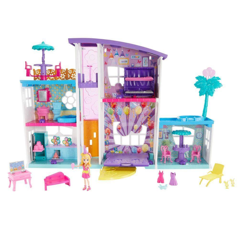 Boneca Polly Pocket Mega Casa de Surpresas - Mattel