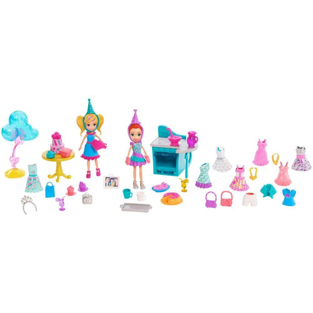 Boneca Polly Pocket Pacote de Festa de Aniversário - Mattel