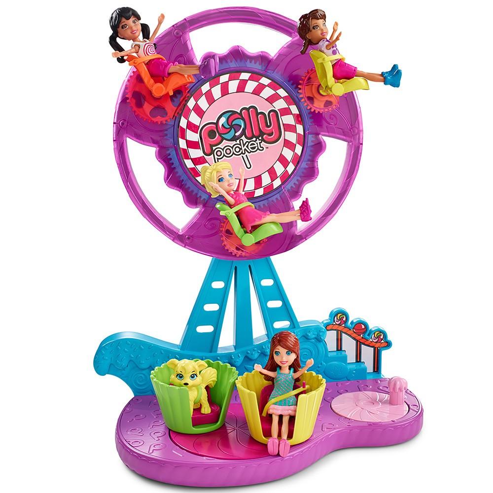 Boneca Polly Pocket Parque de Diversões Roda Gigante Açucarada - Mattel
