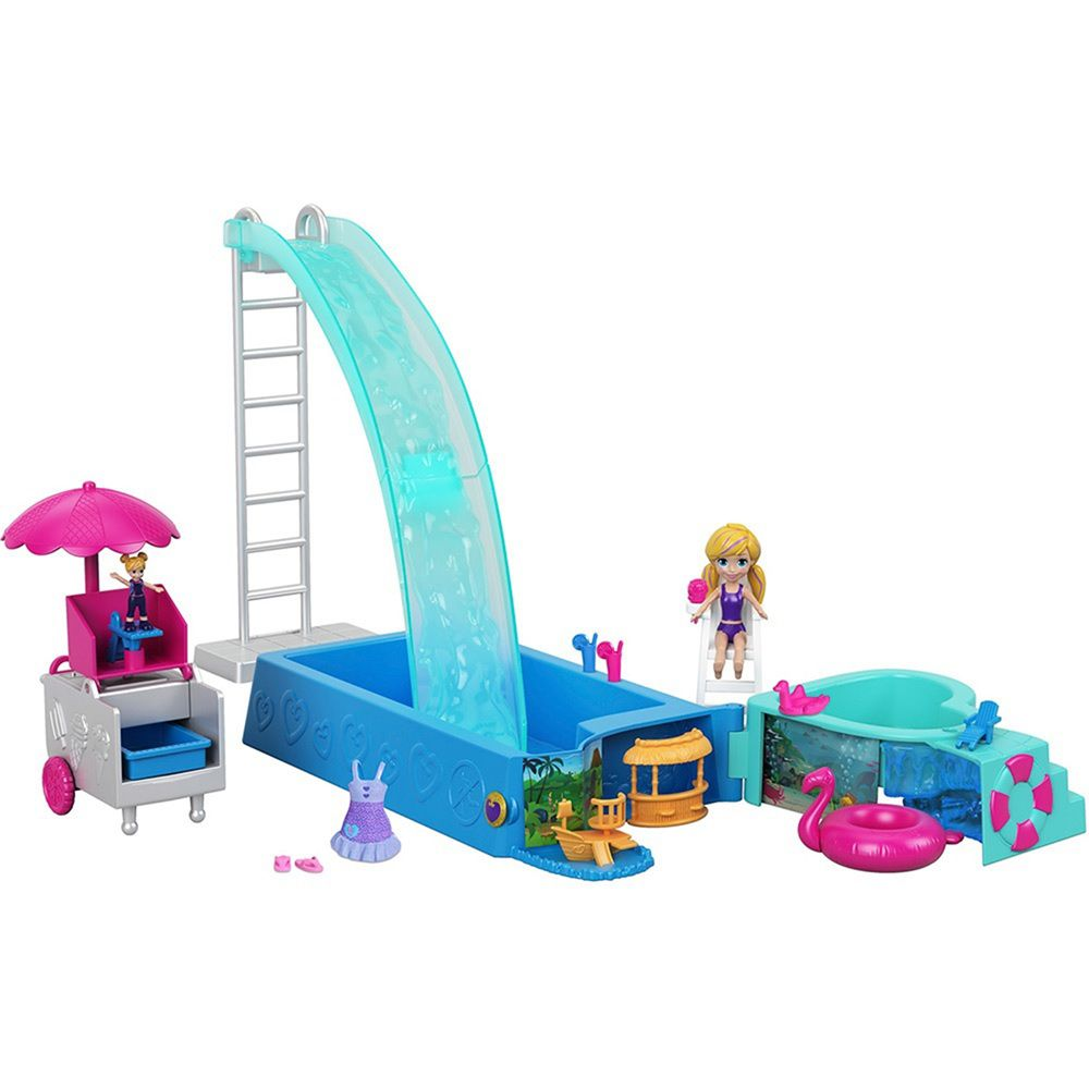 Boneca Polly Pocket Piscina Surpresa - Hasbro