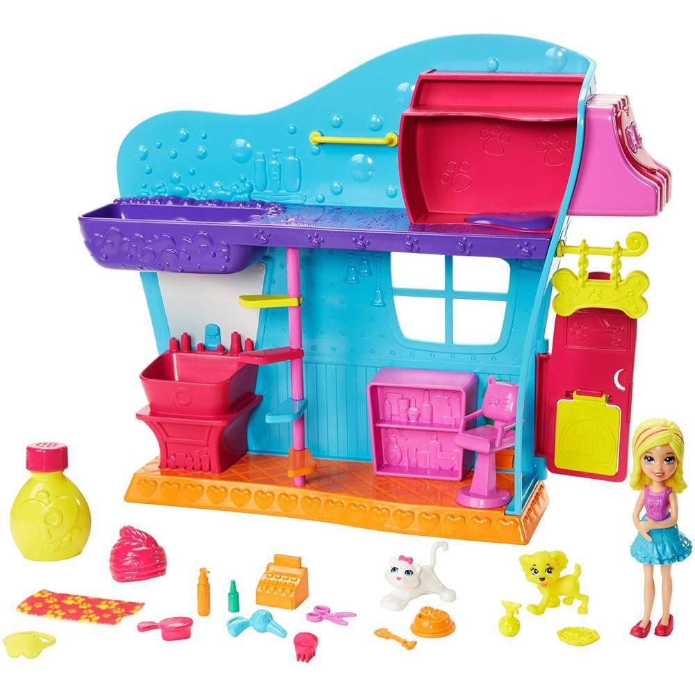 Boneca Polly Pocket Salão de Beleza dos Bichinhos Polly - Mattel