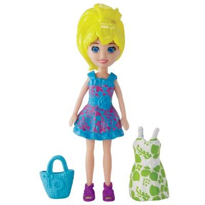 Boneca Polly Pocket Vestidiho - Lea/ Lila/ Polly - Mattel