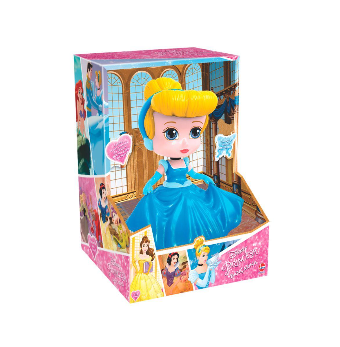 Boneca Princesas Disney Cinderela Dançarina - Lider Brinquedos