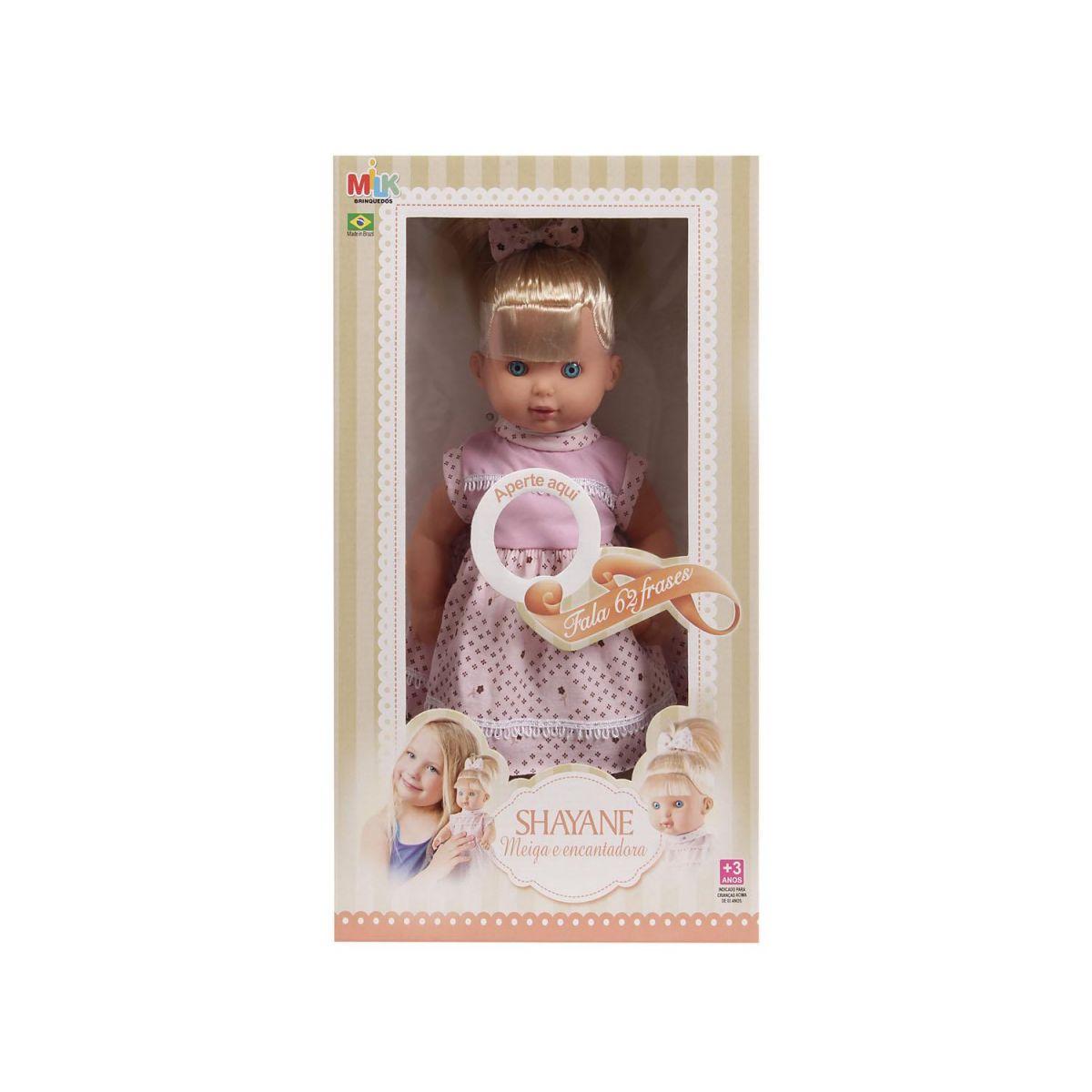 Boneca Shayane 62 Frases - Milk Brinquedos