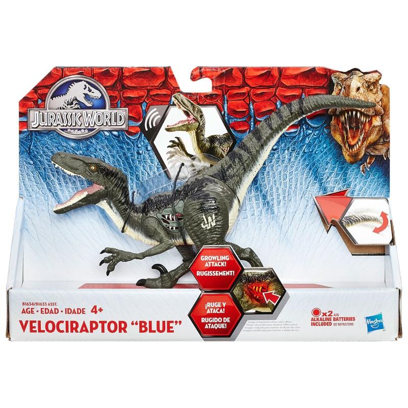 Dinossauro Jurassic World Dino Com Luz Velociraptor Blue - Hasbro