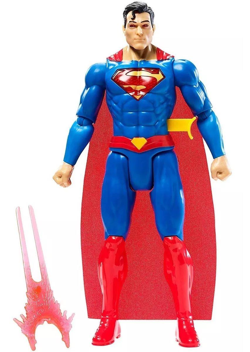 Boneco Liga da Justiça Super Homem Energia Kriptoniana com Luz e Som - Mattel