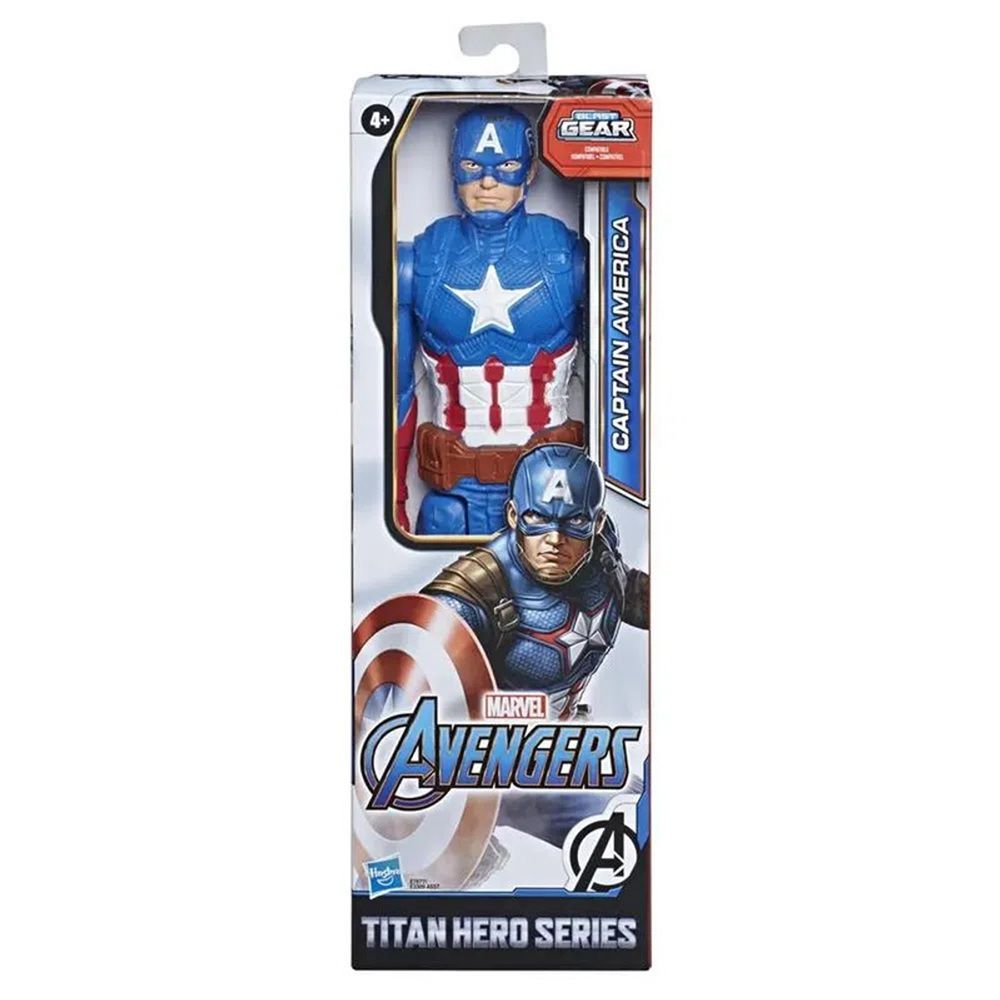 Boneco Titan Hero Series Blast Gear Marvel Vingadores Capitão América - Hasbro