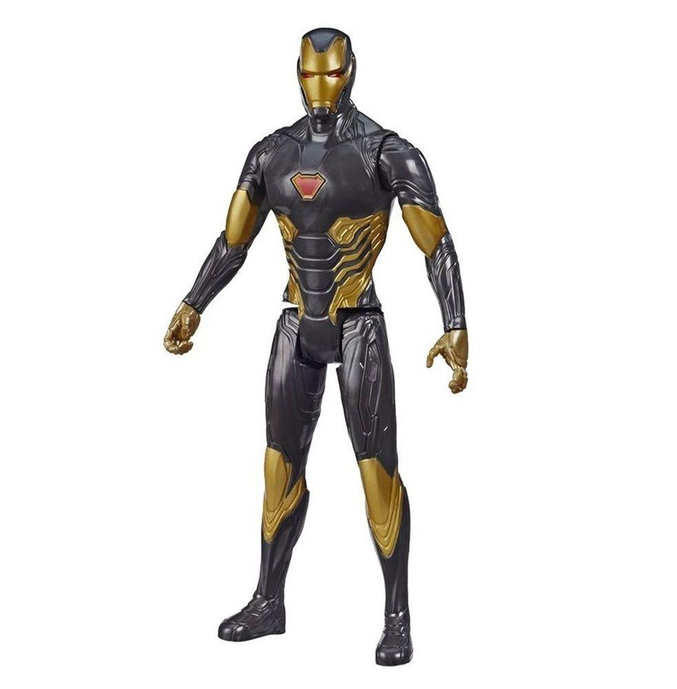 Boneco Titan Hero Series Blast Gear Marvel Vingadores Homem de Ferro Preto - Hasbro