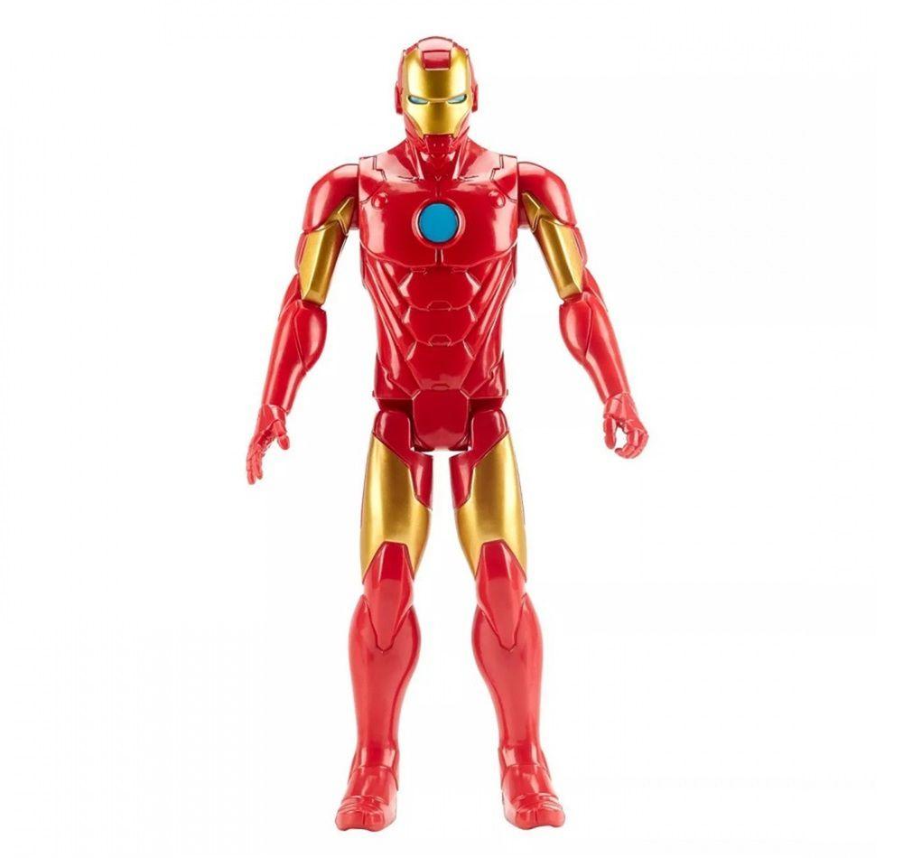 Boneco Titan Hero Series Blast Gear Marvel Vingadores Homem de Ferro Vermelho - Hasbro