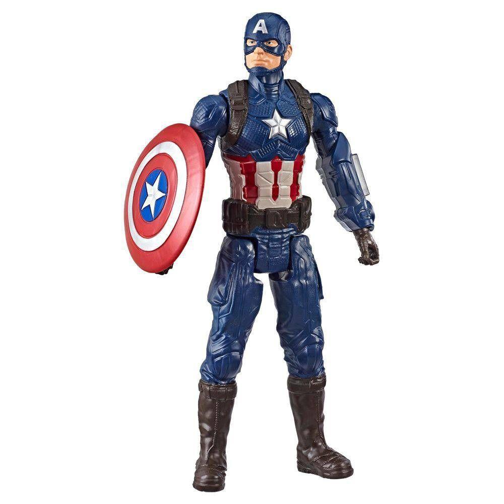 Boneco Titan Hero Series Power FX Marvel Avengers Capitão América - Hasbro