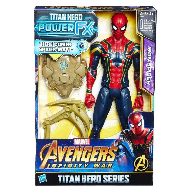 Boneco Titan Hero Series Power FX Marvel Avengers Infinity War Iron Spider - Hasbro