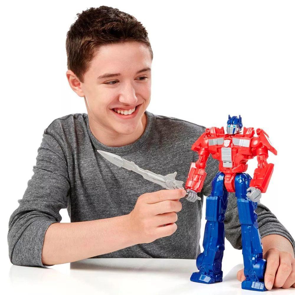 Boneco Transformers Optimus Prime com Som - Hasbro