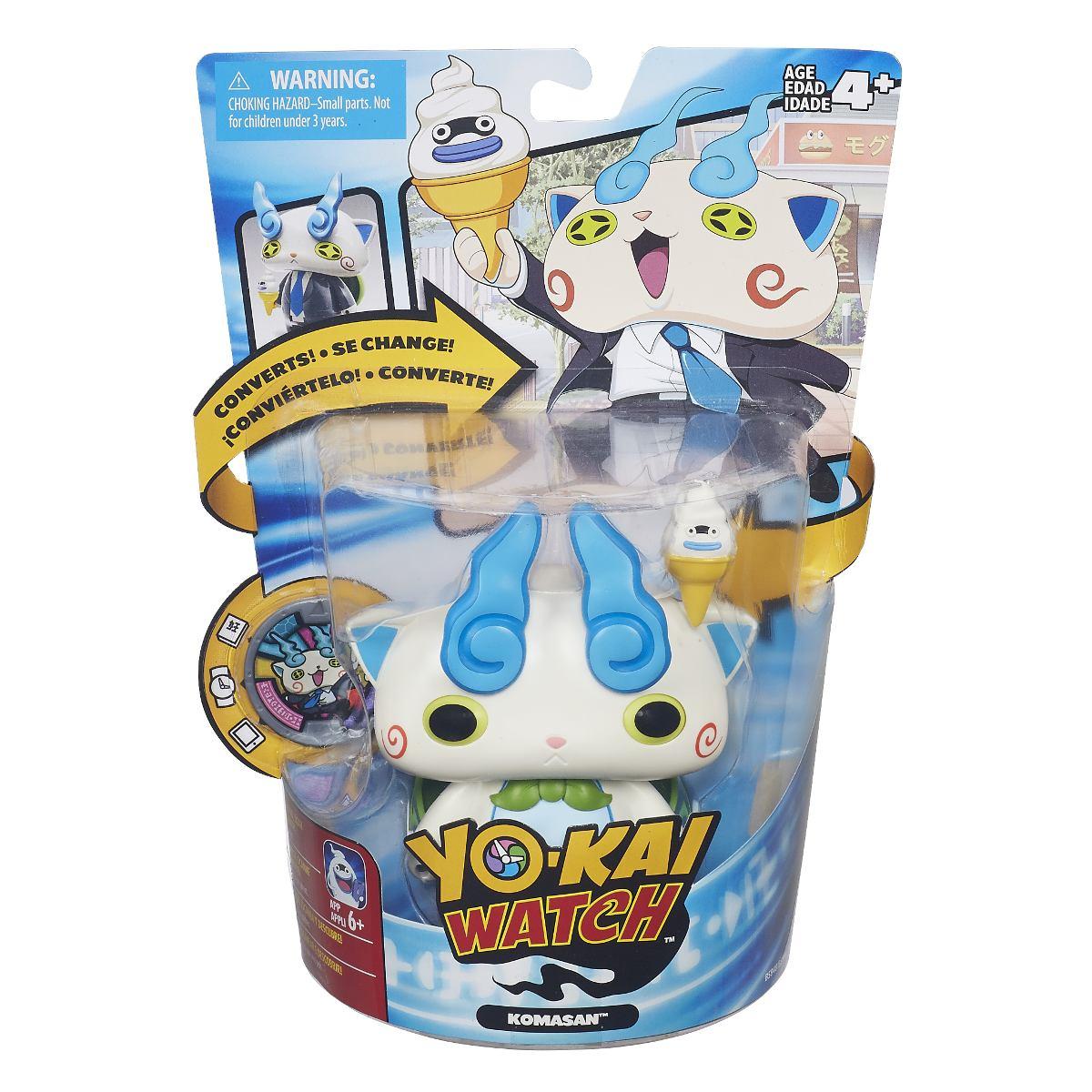 Boneco Yo-kai Watch Komasan Transformavel + Medalha - Hasbro