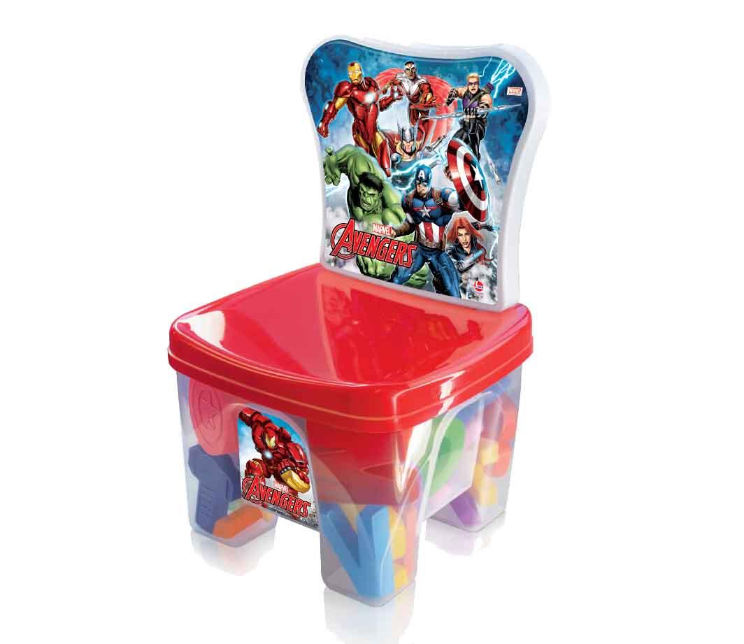 Cadeira Educa Kids Avengers 44 Peças - Lider Brinquedos
