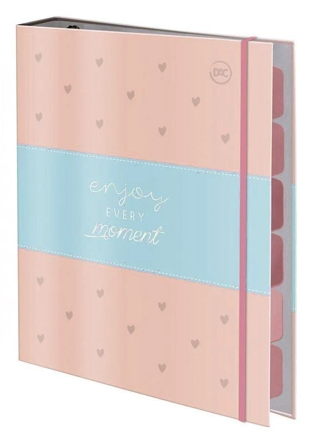 Caderno Argolado Cartonado Colegial com Elástico Enjoy - Dac
