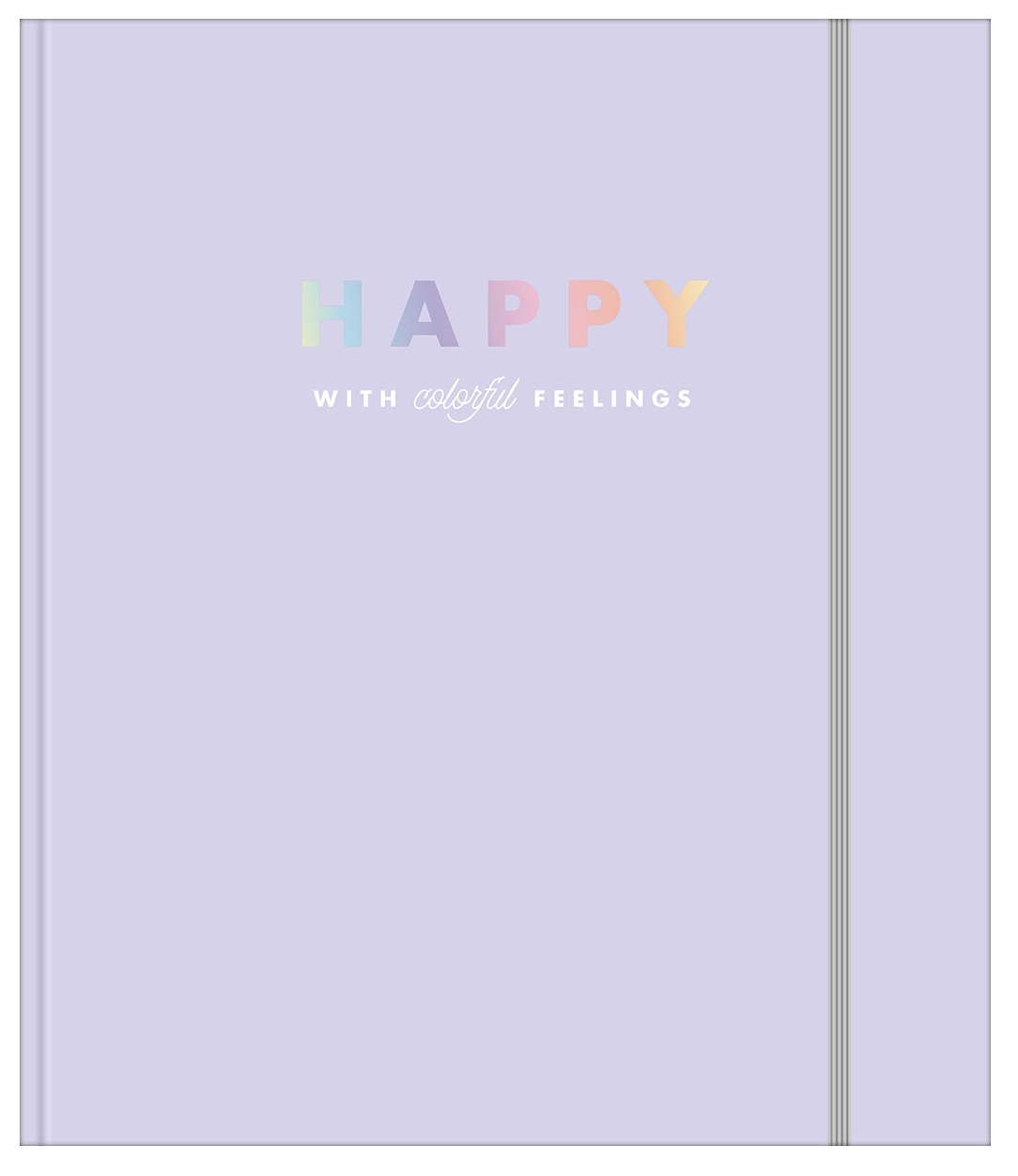 Caderno Argolado Cartonado Colegial com Elástico Happy Lilás - Tilibra