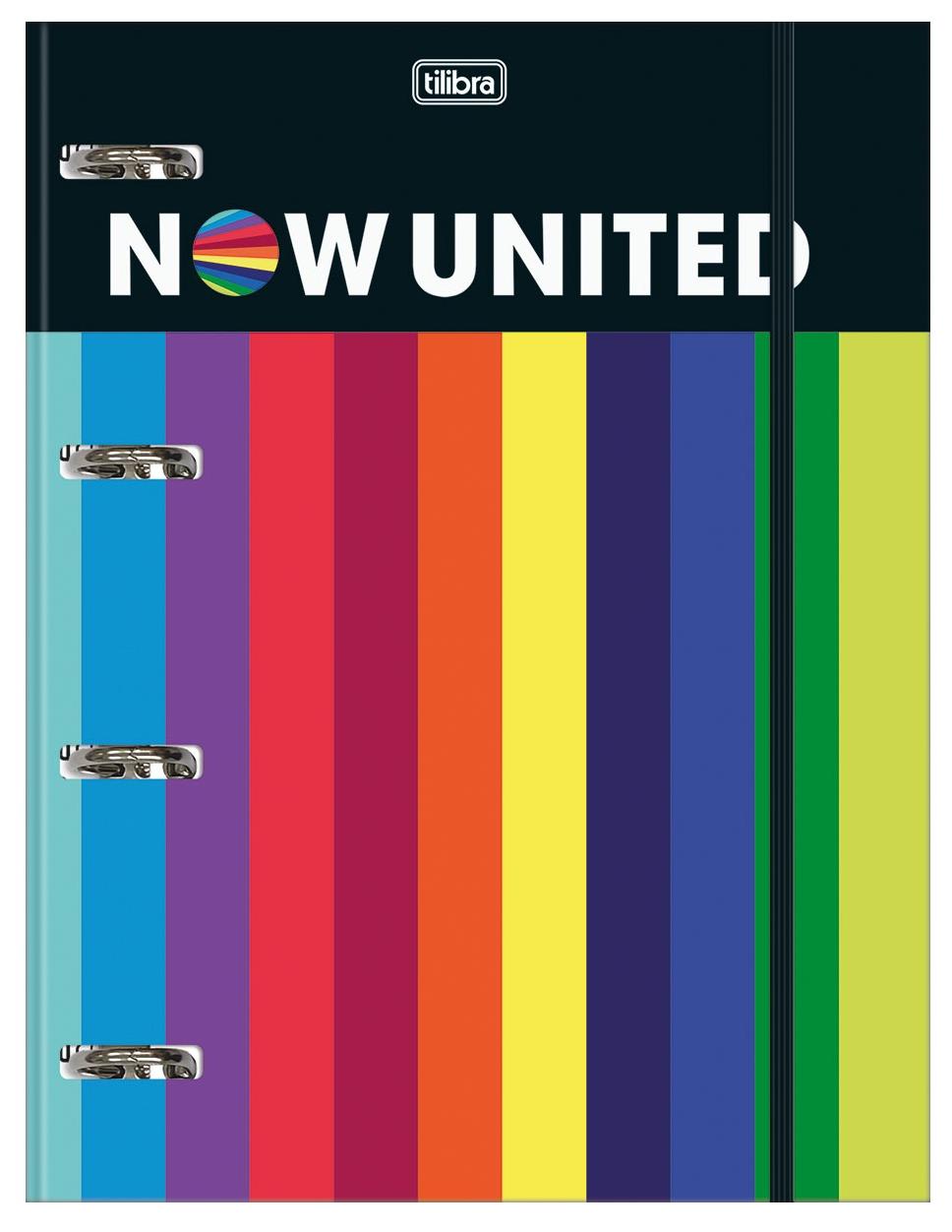 Caderno Argolado Cartonado Universitário com Elástico Now United - Tilibra