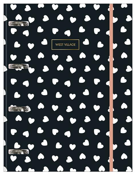 Caderno Argolado Cartonado Universitário com Elástico West Village - Tilibra