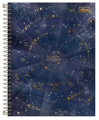 Caderno Espiral Capa Dura Colegial 10 Matérias Magic - Tilibra
