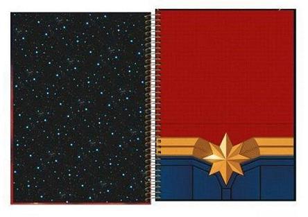 Caderno Espiral Capa Dura Universitário 10 Matérias Capitã Marvel - Tilibra
