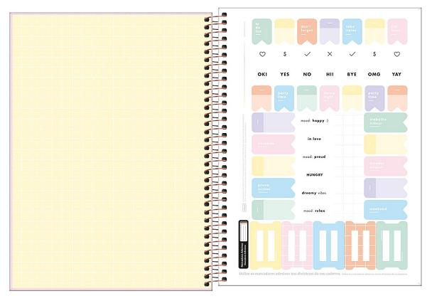 Caderno Espiral Capa Dura Universitário 10 Matérias Happy - Tilibra