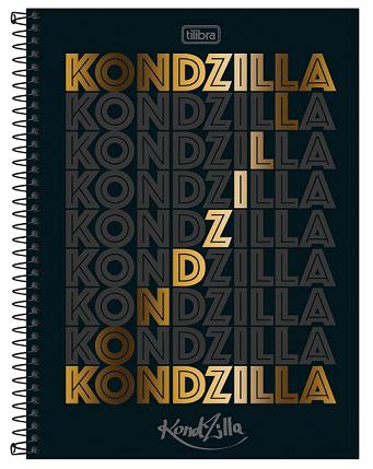 Caderno Espiral Capa Dura Universitário 10 Matérias KondZilla- Tilibra