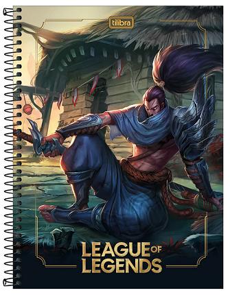 Caderno Espiral Capa Dura Universitário 10 Matérias League of Legends - Tilibra