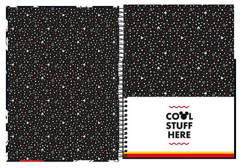 Caderno Espiral Capa Dura Universitário 10 Matérias Mickey - Tilibra
