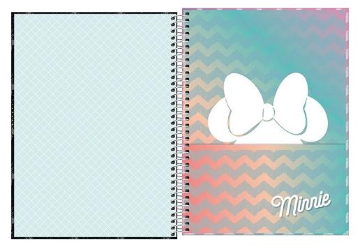 Caderno Espiral Capa Dura Universitário 10 Matérias Minnie Fashion - Tilibra