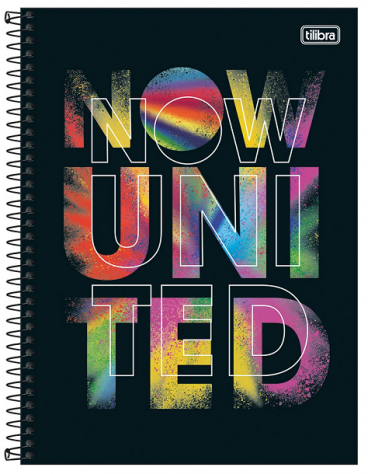 Caderno Espiral Capa Dura Universitário 10 Matérias Now United - Tilibra