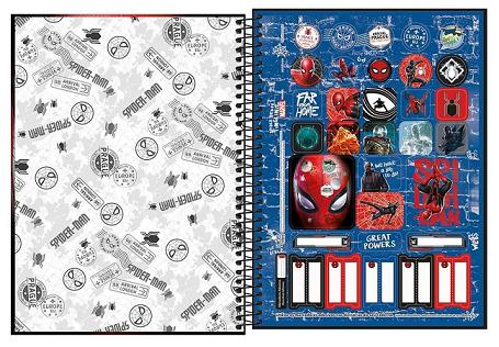 Caderno Espiral Capa Dura Universitário 10 Matérias Spider-Man - Tilibra