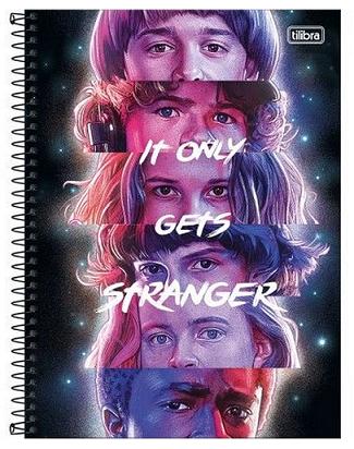 Caderno Espiral Capa Dura Universitário 10 Matérias Stranger Things - Tilibra
