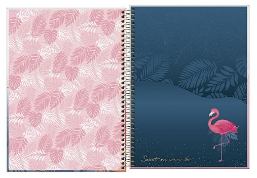 Caderno Espiral Capa Dura Universitário 12 Matérias Aloha - Tilibra