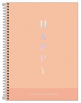 Caderno Espiral Capa Dura Universitário 12 Matérias Happy - Tilibra