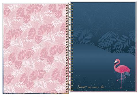 Caderno Espiral Capa Dura Universitário 16 Matérias Aloha - Tilibra