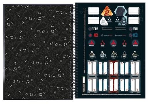 Caderno Espiral Capa Dura Universitário 16 Matérias Assassin´s Creed - Tilibra