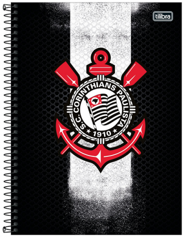 Caderno Espiral Capa Dura Universitário 1 Matéria Corinthians - Tilibra