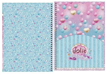 Caderno Espiral Capa Dura Universitário 16 Matérias Jolie - Tilibra