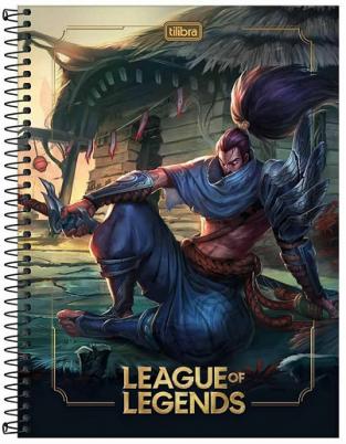 Caderno Espiral Capa Dura Universitário 16 Matérias League of Legends - Tilibra