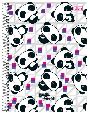 Caderno Espiral Capa Dura Universitário 16 Matérias Lovely Friend - Tilibra