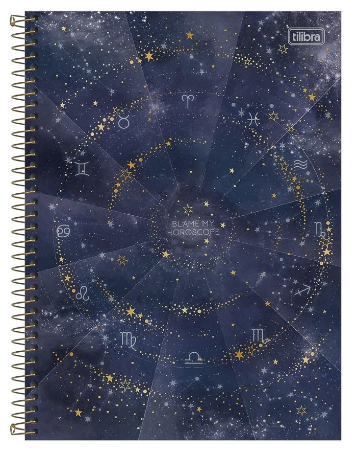 Caderno Espiral Capa Dura Universitário 16 Matérias Magic - Tilibra