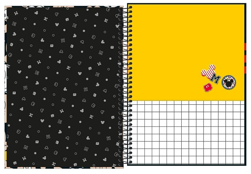 Caderno Espiral Capa Dura Universitário 16 Matérias Mickey - Tilibra