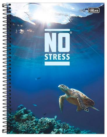 Caderno Espiral Capa Dura Universitário 16 Matérias No Stress - Tilibra