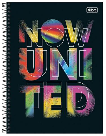 Caderno Espiral Capa Dura Universitário 16 Matérias Now United - Tilibra
