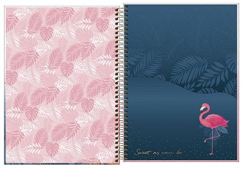 Caderno Espiral Capa Dura Universitário 1 Matéria Aloha - Tilibra